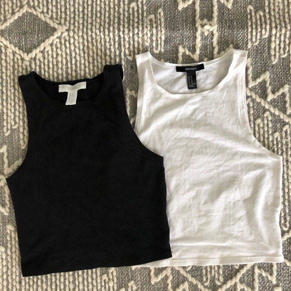 Forever 21 Tops - High Neck Crop Top (1 for $8 or 2 for $13)